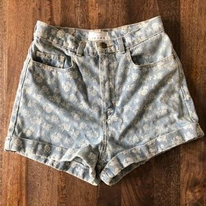 100% cotton American apparel high rise shorts